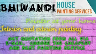 BHIWANDI    HOUSE PAINTING SERVICES ~ Painter at your home ~near me ~ Tips ~INTERIOR & EXTERIOR 1280