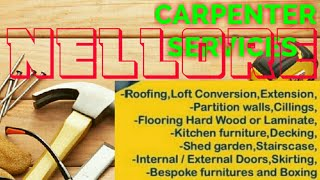 NELLORE     Carpenter Services  ~ Carpenter at your home ~ Furniture Work  ~near me ~work ~Carpenter