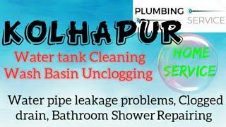 KOLHAPUR    Plumbing Services ~Plumber at your home~ Bathroom Shower Repairing ~near me ~in Buildi