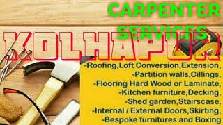 KOLHAPUR     Carpenter Services ~ Carpenter at your home ~ Furniture Work ~near me ~work ~Carpente