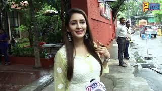 Chahat Khanna Seeking Blessings At ISKON Temple Juhu For Her Movie Prashthanam