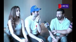 Sunny Deol ,Karan Deol & Sahar - Pal Pal Dil Ke Pass Team On JANTV