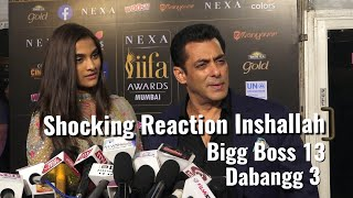 Salman Khan SHOCKING Reaction On Inshallah, Bigg Boss 13 & Dabangg 3 - IIFA Awards 2019 Mumbai