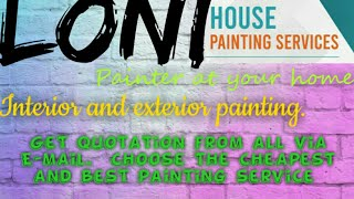 LONI    HOUSE PAINTING SERVICES ~ Painter at your home ~near me ~ Tips ~INTERIOR & EXTERIOR 1280x720