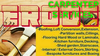 ERODE    Carpenter Services  ~ Carpenter at your home ~ Furniture Work  ~near me ~work ~Carpentery 1