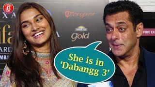 Salman Khan Introduces His 'Dabangg 3' Co-star Saiee Manjrekar At IIFA Awards