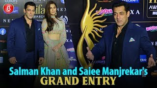 'Dabangg 3' Co-Stars, Salman Khan And Saiee Manjrekar's Grand Entry At IIFA Awards 2019