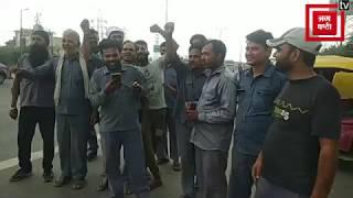मोटर व्हीकल एक्ट 2019 के खिलाफ दिल्ली में ट्रांसपोर्ट यूनियन की हड़ताल