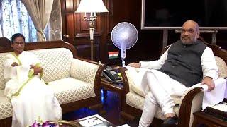 West Bengal CM Mamata Banerjee meets HM Amit Shah in Delhi, raises Assam NRC issue