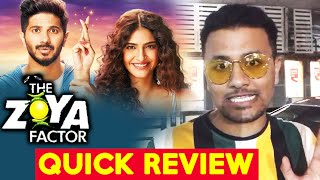 The Zoya Factor Movie QUICK REVIEW | Sonam Kapoor | Dulquer Salmaan