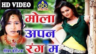 Seema Kaushik |  Cg Song | Mola Apan Rang Ma | ChhattisgarhiGeet |  HD VIDEO 2019 | SG MUSIC Raipur