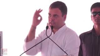 Congress President Rahul Gandhi addresses a rally in Yamunanagar Haryana