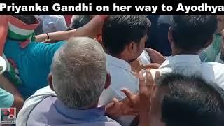 Congress General Secretary Priyanka Gandhi Vadra on her way to Ayodhya 03