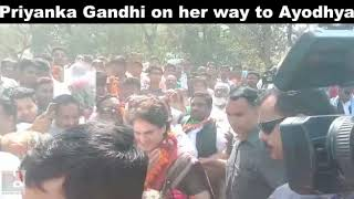 Congress General Secretary Priyanka Gandhi Vadra on her way to Ayodhya 02