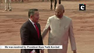 President of Mongolia receives ceremonial reception at Rashtrapati Bhavan