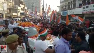 Congress General Secretary Priyanka Gandhi holds a road show at Fatehpur