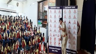 Road Safety Week Taken To Students, Brings Out Their Talents