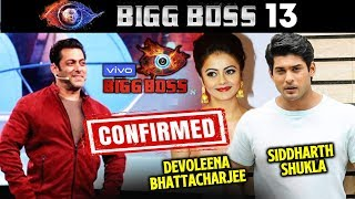 Devoleena Bhattacharjee And Siddharth Shukla CONFIRMED For Bigg Boss 13 | Salman Khan's Show