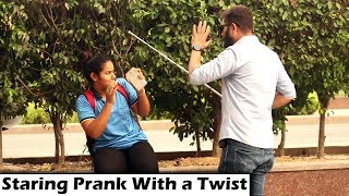 STARING AT CUTE GIRLS Part3 | Prank with an Awesome Twist | Unglibaaz