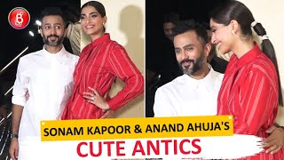 'The Zoya Factor' Screening: Sonam Kapoor and Anand Ahuja indulge in PDA