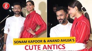 'The Zoya Factor' Screening: Sonam Kapoor and Anand Ahuja indulge in PDA