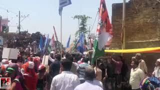 Congress President Rahul Gandhi and Priyanka Gandhi hold a road show at Amethi