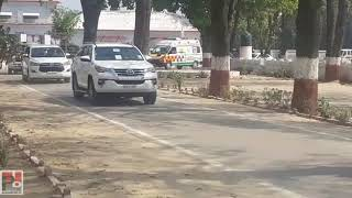 Rahul Gandhi and Congress General Secretary Priyanka Gandhi  leave for Amethi from Raebareli