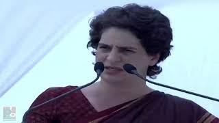Congress General Secretary Priyanka Gandhi Vadra addresses a public meeting in Fatehpur Sikri