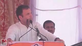 Congress President Rahul Gandhi addresses a public meeting in Budaun, Uttar Pradesh