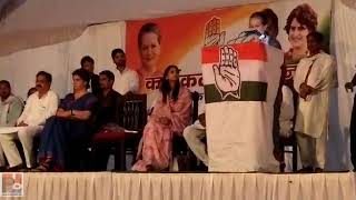 UPA Chairperson Sonia Gandhi addresses a public meeting at Raebareli  03