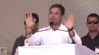 Congress President Rahul Gandhi addresses a public meeting in Ajmer, Rajasthan
