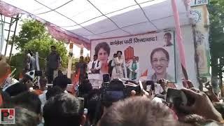 Congress General Secretary Priyanka Gandhi addresses a public meeting at Unnao