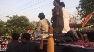 बाराबंकी में कांग्रेस महासचिव प्रियंका गाँधी का रोड शो