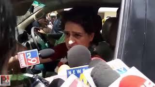 Congress General Secretary Priyanka Gandhi addresses media at Amethi