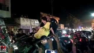 Congress General secretary Priyanka Gandhi's road show at Lalganj , Raebareli part 10