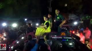 Congress General secretary Priyanka Gandhi's road show at Lalganj , Raebareli part 08