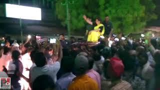 Congress General secretary Priyanka Gandhi's road show at Lalganj , Raebareli part 05