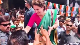 रायबरेली के महराजगंज में कांग्रेस महासचिव प्रियंका गाँधी का स्वागत