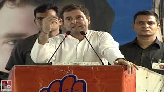 Congress President Rahul Gandhi addresses a public meeting in Delhi