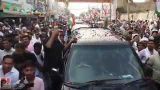 Congress General Secretary Priyanka Gandhi Vadra's roadshow at Rohtak, Haryana