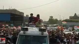 कांग्रेस महासचिव प्रियंका गाँधी का पूर्व मुख्यमंत्री शीला दीक्षित संग दिल्ली में रोड शो
