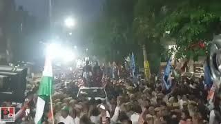 Congress General Secretary Priyanka Gandhi holds a road show in Delhi