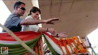 Priyanka Gandhi Vadra Roadshow at Gurdaspur Lok Sabha, Punjab