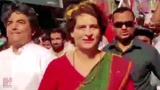 Priyanka Gandhi Vadra roadshow in Kushinagar