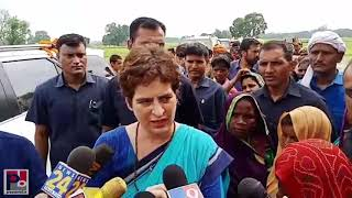 Congress General Secretary Priyanka Gandhi at Sonbhadhra