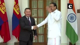 Mongolian President Khaltmaagiin Battulga meets VP Naidu in Delhi