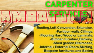 AMBATTUR    Carpenter Services  ~ Carpenter at your home ~ Furniture Work  ~near me ~work ~Carpenter