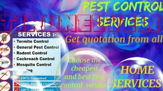 TIRUNELVELI     Pest Control Services ~ Technician ~Service at your home ~ Bed Bugs ~ near me 1280x7