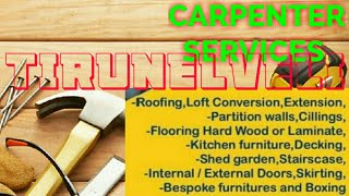 TIRUNELVELI      Carpenter Services  ~ Carpenter at your home ~ Furniture Work  ~near me ~work ~Carp