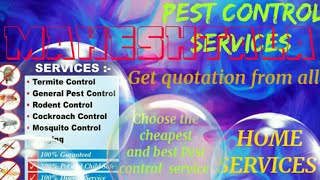 MAHESHTALA     Pest Control Services ~ Technician ~Service at your home ~ Bed Bugs ~ near me 1280x72